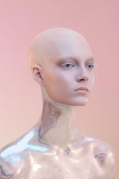 The colors you wear - models & art of make-up Nude Makeup, Makeup Inspo, Makeup Inspiration, Makeup Ideas, Robot Makeup, Futuristic Makeup, Futuristic Robot, Make Up Art, How To Make