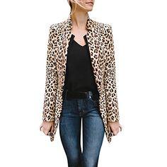 SOMESUN Femmes Imprimé LéOpard Sexy Hiver Chaud Manteau De Vent Long  CardiganCardigan à Manches Longues LéOpard · Tailleur Femme ... 53b03a757636