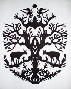 Wycinanki is an art of papercutting in Poland, Ukrain and Belarus.