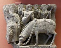 Siddhartha parting from Kanthaka, Gandhara, British Museum