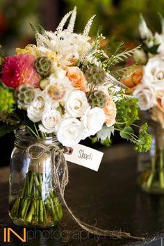 Gorgeous bouquet/center piece for a low key wedding