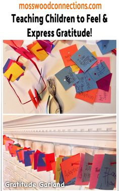 Add this Gratitude Garland to your list of crafts this year! Gratitude Activities for Kids help to instill perspective taking and emotional knowledge Social Skills Activities, Counseling Activities, Activities For Kids, Crafts For Kids, Montessori Activities, School Counseling, Therapy Activities, Perspective Taking, Autism Support