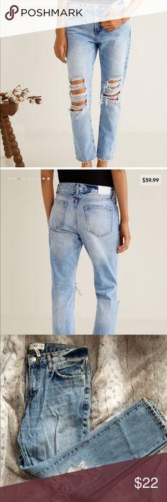 Mango Girls Light Wash Denim Jacket (€27) ❤ liked on
