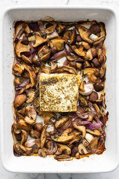 Mushroom Pasta, Mushroom Recipes, Feta Pasta, Small Baking Dish, Pasta Shapes, High Protein Low Carb, Spinach And Cheese, Creamy Pasta, Baking Recipes