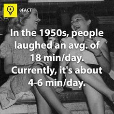 in the 1950s  people laughed an avg. of 18 min/day. currently its about 4-6 min/day.  subconscious mind is a social community blogpagechannel and a website dedicated to teach you how to do things and stuff Teaching you interesting funny facts every day and collecting the best top 10s we can find  includes amazing strange interesting random funny weird cool facts   #subconscious_mind #did_you_know #How_to #Facts #top_10  youtube Channel…