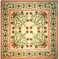 19th Century Basket Quilt - I have the pattern to make it, hummmm Old Quilts, Antique Quilts, Vintage Quilts, Vintage Textiles, Red And White Quilts, Basket Quilt, Country Quilts, Medallion Quilt, Green Quilt