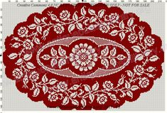 Gallery.ru / Фото #52 - Le Filet Ancien au Point de Reprise VI - gabbach Cross Stitch Pillow, Cross Stitch Borders, Cross Stitch Flowers, Cross Stitch Designs, Cross Stitch Patterns, Knitting Patterns, Bead Crochet Rope, Thread Crochet, Crochet Diagram