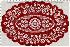 Gallery.ru / Фото #9 - Le Filet Ancien VI - gabbach Cross Stitch Pillow, Cross Stitch Borders, Cross Stitch Flowers, Cross Stitch Designs, Cross Stitch Patterns, Crochet Basket Pattern, Crochet Diagram, Filet Crochet, Crochet Patterns