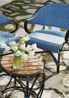 Monet Cafe Outdoor Furniture Collections -- It's the perfect set for a backyard rendezvous, and it's made to stand the test of time.