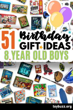 These 50+ Birthday Gifts for 8 Year Old Boys are gonna be amazing for our kids' birthday parties!! I can't believe you can see all of the coolest gifts for 8 year olds birthdays all in one place.