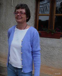 CASTELLANA, handicraft lady cardigan in wool by domoras