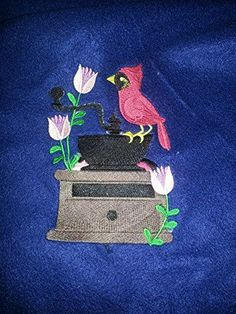Black Bird On A Coffee Grnder Blue Throw Blanket -- See this great product.