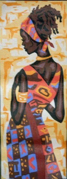 Mulher africana no Ponto Cruz                              …