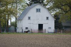 White barn in Tipton Co. Indiana 2012