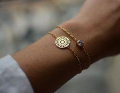 Gold Filigree Sun Disc Bracelet | WolfChoke
