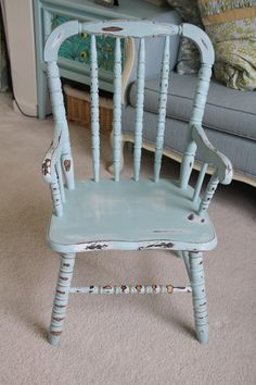 sweet blue chair (I have a thing for chairs. Is that weird?)