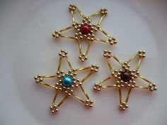 Beaded Christmas stars inspiration