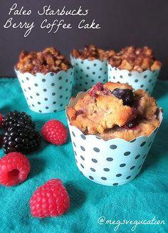 gluten free, paleo Starbucks Berry Coffee Cake Muffins #glutenfree #paleo #starbuckscopycat