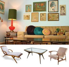 O mobiliário e a decoração nos anos 70