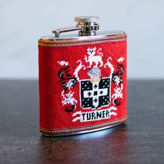 👉Family Crest Flask Finishing👈 ➖➖➖➖➖ Our customer stitched, we did the finishing. ➖➖➖➖➖ 🧡Love teaming up with you all! Needlepoint Kits, Needlepoint Canvases, Free Monogram, Family Crest, Customized Gifts, Flasks, Blog, Fun, Stitching