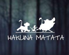 Hakuna Matata Lion King Disney Decal Car Laptop Glass Metal VInyl