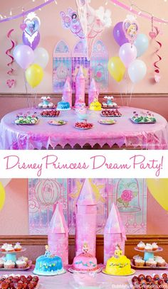 a mama report feature disney princess dream party celebration.The Best Disney Birthday Party Disney Princess Birthday Party, Princess Theme Party, Princess Party Snacks, Princess Pinata, Disney Princess Birthday Cakes, Cinderella Party, Princesse Party, Princess Party Decorations, Wall Decorations