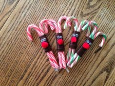 Reindeer craft. I made these as gifts for my sons' daycare buddies, December 2012. Super easy to do!