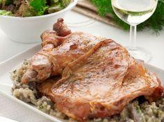 Κατσικάκι αιγιοπελαγίτικο γεμιστό στη γάστρα Mediterranean Recipes, Lasagna, Greek, Pork, Turkey, Meat, Dinner, Ethnic Recipes, Kitchen