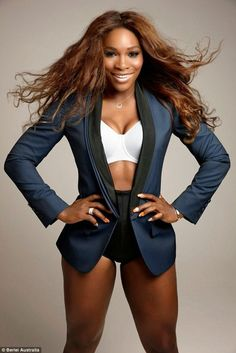 Serena Williams has been killing it on the court. Last month, the tennis star finished as the top-ranked player in the world. Now, she's serving up a round of body confidence. Serena Williams' looked stunning in her lingerie campaign for Australian… Serena Williams Bikini, Serena Williams Photos, Serena Williams Tennis, Venus And Serena Williams, Afro Punk, Celebs, Celebrities, Athletic Women, Female Athletes
