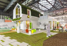 Interesting compact bio-home furnished by Clei: Green Kinder House