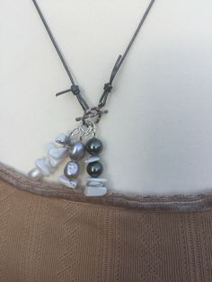 A personal favourite from my Etsy shop https://www.etsy.com/uk/listing/265887569/gemstone-ynecklace-handmade-pearl #promagain #prom #formal #resale #dresses #cheap #sell #buy