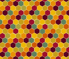 honeycomb fabric by 1canoe2 on Spoonflower - custom fabric. I want pillows out of this fabric.