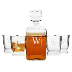 Hey, I found this really awesome Etsy listing at https://www.etsy.com/listing/199854813/personalized-whiskey-decanter-set-with