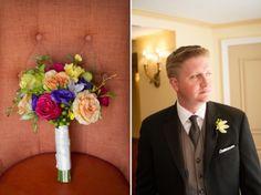DC Real Wedding - Bergerons Flowers - Bergerons Event Florist Blog #bouquet #colorfulflowers #groom #TheMayflowerHotel  Source: #KaraColeenPhotography
