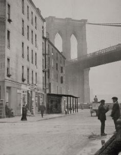 Brooklyn Bridge, New York, E. What can I say I do love Brooklyn ; New York Pictures, Old Pictures, Old Photos, Vintage New York, New York City, Photo New York, Brooklyn Bridge New York, City Streets, Vintage Photography