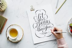 Want to try hand lettering? It's easier than you think. Here are hand lettering tools that will help you create beautiful letterforms. Handwritten Text, Script Fonts, How To Make Money, How To Become, Investment Quotes, Making A Vision Board, Business Coach, Business Analyst, Business Flyer