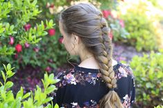 Faux French Braid #hairstyles #cutegirlshairstyles #CGHfauxFrench #braids #frenchbraid