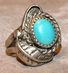 ESTATE PERSIAN TURQUOISE Navajo Sterling Silver by AuctionHunter, $170.00