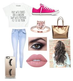 """""""Imagine"""" by annagracebieber on Polyvore featuring Glamorous, Converse, Lime Crime and Casetify"""