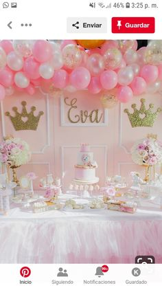 Pink And Gold Princess Birthday Party Pretty My - Pink And Gold Princess Birthday Decorations Pink Princess Party, Princess Birthday Party Decorations, Princess First Birthday, Baby Shower Princess, Baby Girl Birthday, Daughter Birthday, Gold Birthday, First Birthday Parties, Birthday Party Themes