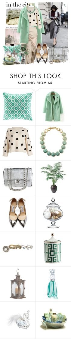 """""""Untitled #429"""" by moni4e ❤ liked on Polyvore featuring Agent Provocateur, Echo Design, WithChic, Banana Republic, Chanel, Ethan Allen, Jimmy Choo, Crate and Barrel, maurices and Richard Ginori"""