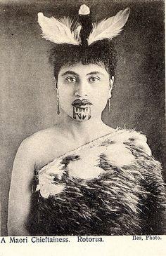 maori princess with moko - chin tattoo | by sweetpea11215