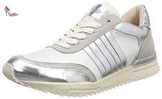 Buffalo  15BU0211 IMI SUEDE MESH PU, Sneakers Basses femme - Blanc - Weiß (SILVER130), 41 - Chaussures buffalo (*Partner-Link)