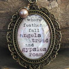 Angels and Gypsies Necklace Vintage Angel