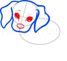 How To Draw A Beagle Puppy, Beagle Puppy, Step by Step, Drawing Guide, by Dawn | dragoart.com Baby Beagle, Beagle Puppy, Puppy Drawing, Baby Drawing, Puppy Face, Puppy Eyes, Cute Puppy Breeds, Cute Puppies, Make Your Own Patch