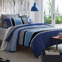 Sheridan Rafferty Cobalt Blue Duvet Covers are made from superior quality 300 thread count cotton sateen.  http://bedlinendirect.co.uk/sheridan-rafferty-cobalt-blue-duvet-covers.html