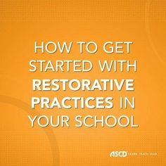 Use restorative practices in your school to build relationships and a sense of community in the classroom. High School Counseling, School Social Work, School Counselor, School Leadership, Educational Leadership, School Community, Classroom Community, Restorative Practices School, Restorative Circles