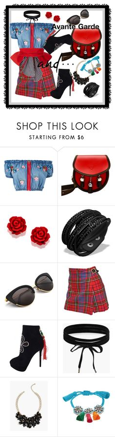"""Avante Garde"" by kareng-357 ❤ liked on Polyvore featuring House of Holland, Vivienne Westwood, Charlotte Olympia, Boohoo, Talbots and Shourouk"