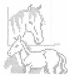 Free Filet Crochet Horse Pattern, Free Filet Crochet
