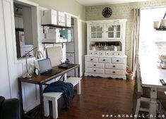 desk space dining room after